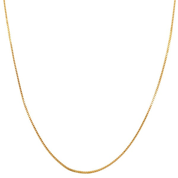 14k Rose Gold Venetian Box Chain (16 inches to 20 inches)