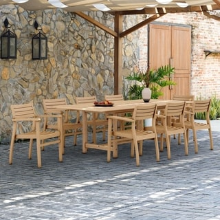 Havenside Home Tottenville 9-piece Teak Dining Set