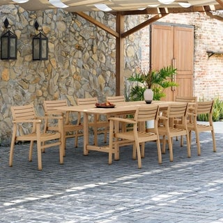 Amazonia Teak Paris 9-piece Teak Dining Set