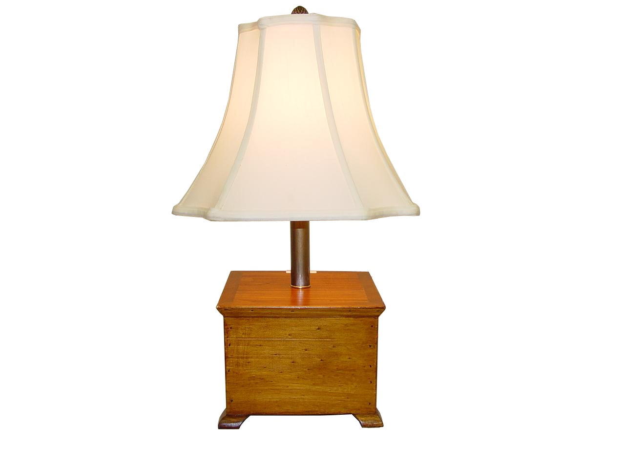 Natural Wooden Box Table Lamp