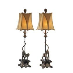 Italian Monkey Table Lamps (Set of 2)
