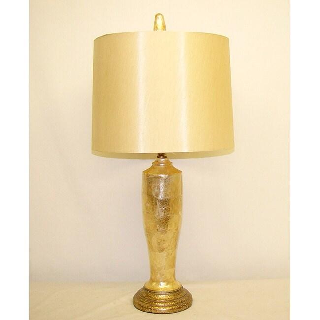 Golden Capiz Table Lamp