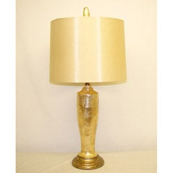 Golden Capiz Table Lamp