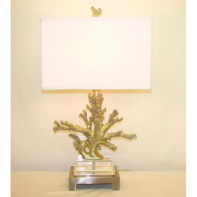 Bon Silver Coral Table Lamp