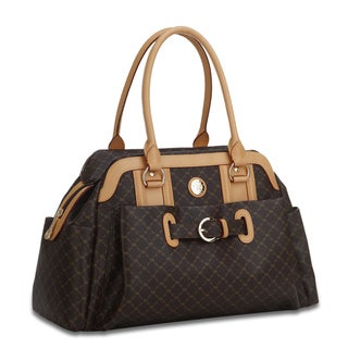 Rioni Brown Signature Leather Handbag