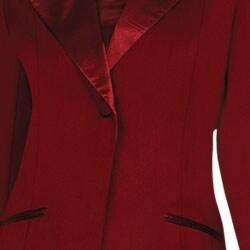 Divine Apparel Women's Plus Size 3-piece Satin Wing Collar Peak Lapel Skirt Suit - Thumbnail 2