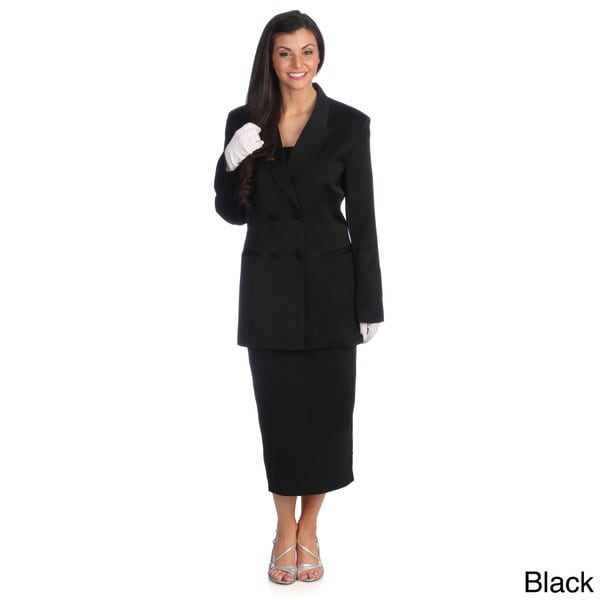 Divine Apparel Women's Double-breasted Skirt Suit - Free Shipping ...