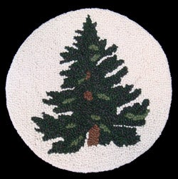Wool Tree Design Chair Pad