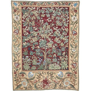 Tree of Life Wall Tapestry Red (4'6 x 3'4)