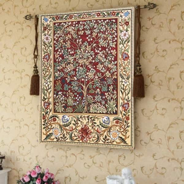 Tree Of Life Wall Tapestry Red 4 6 X 3