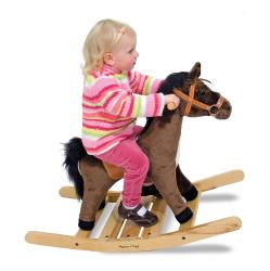 Melissa & Doug Plush Rock and Trot Rocking Horse