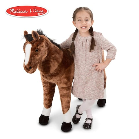 Melissa & Doug Plush Horse - Brown