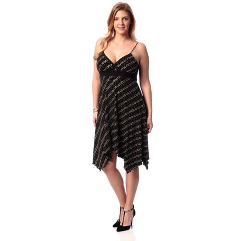 Evanese Women's Plus Size Glitter Cocktail Dress