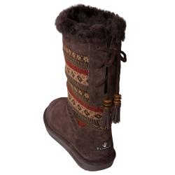 Bearpaw Women's 'Grace' Suede Sheepskin-lined Boots - Thumbnail 1