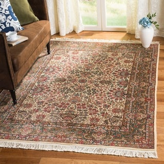 """Safavieh Couture Royal Kerman Hand-Knotted Ivory/ Multi Wool Area Rug (5' x 7'6"""")"""