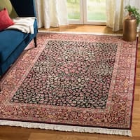 Safavieh Couture Royal Kerman Hand-Knotted Black/ Red Wool Area Rug (10' x 14')