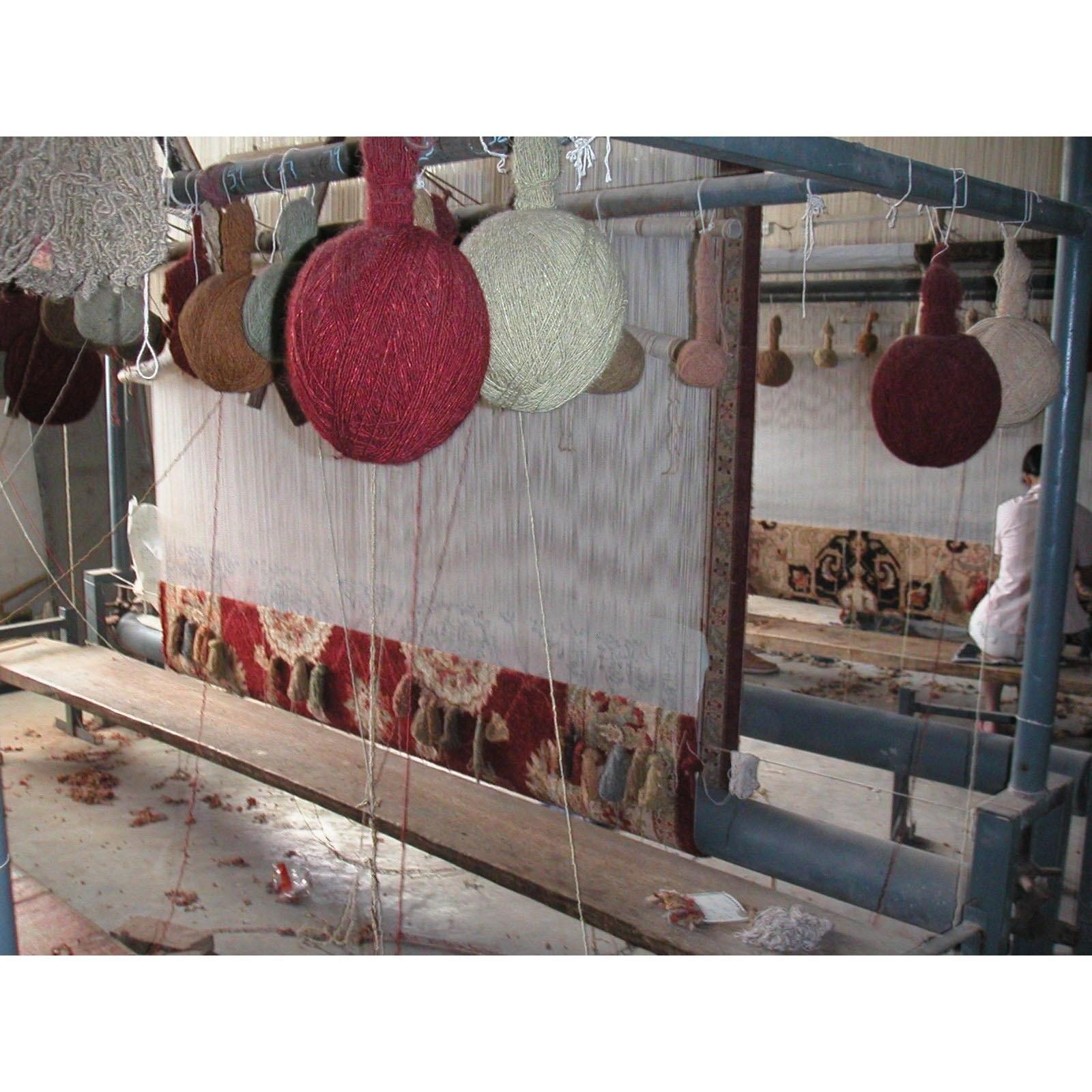 Handmade Kerman Multicolor Wool Rug