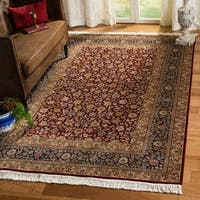 Safavieh Couture Royal Kerman Hand-Knotted Blue/ Red Wool Area Rug (12' x 18')
