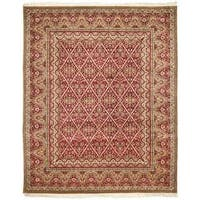 Handmade Safavieh Couture Royal Kerman Red/ Beige Wool Area Rug - 10' x 14' (China)