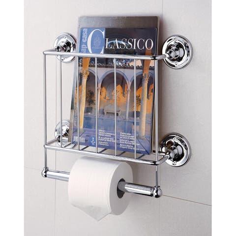 Wall-mount Bath Tissue & Magazine Rack