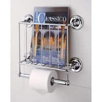 Organize It All Silver Steel Wall-mount Bath Tissue and Magazine Rack