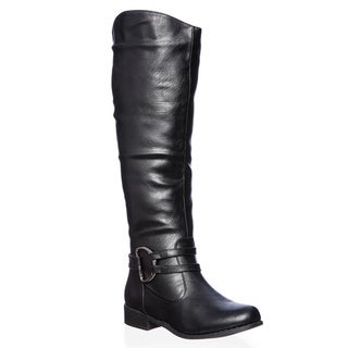 Link to Journee Collection Women's 'Charming-01' Regular and Wide-calf Knee-high Riding Boot Similar Items in Women's Shoes