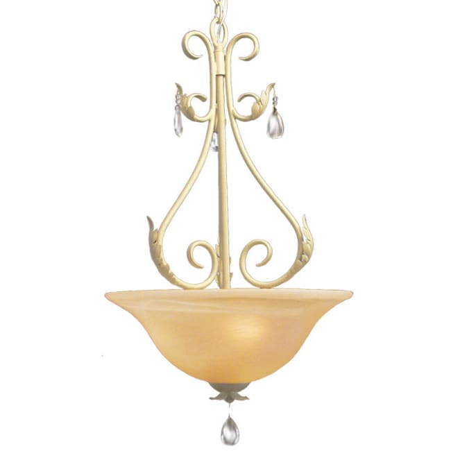 Woodbridge Lighting Alexandria 3-light Washed Gold Pendant