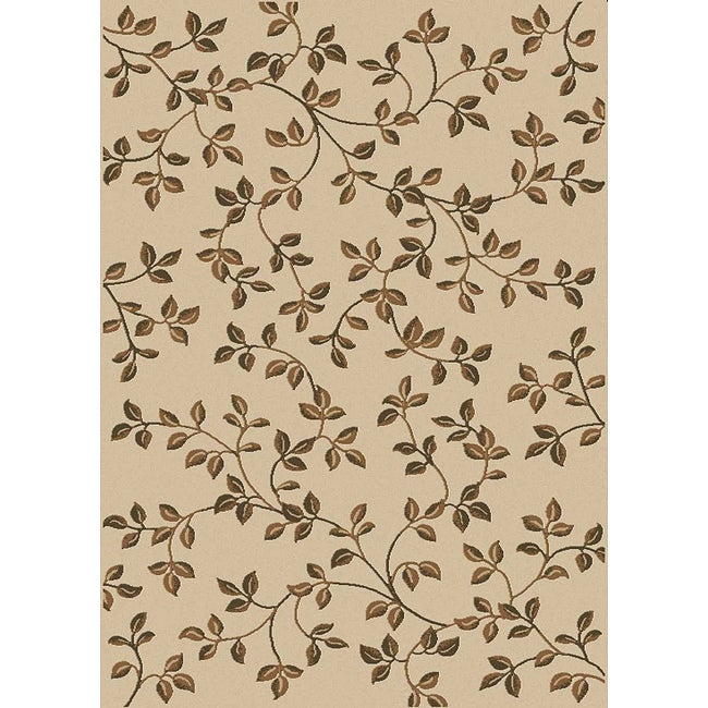 Admire Home Living Virginia Ivory Area Rug (7'9 x 11')