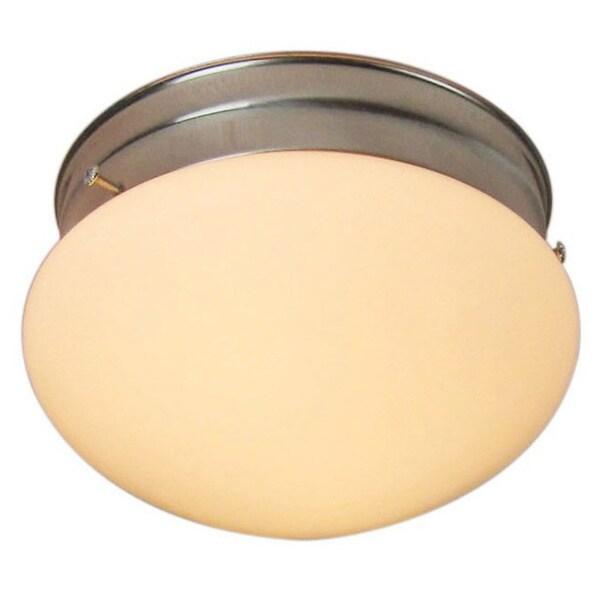 Woodbridge Lighting Basic 1-light Satin Nickel Mushroom Glass Flush Mounts (Pack of 6)