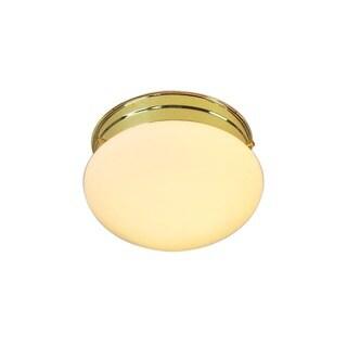 Woodbridge Lighting Basic 1-light Polished Brass Mushroom Glass Flush Mounts (Pack of 6)