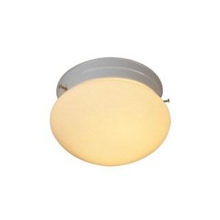Woodbridge Lighting Basic 1-light White Mushroom Glass Flush Mount (Pack of 6)