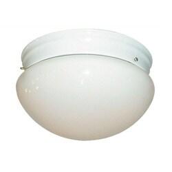 Woodbridge Lighting Basic 2-light Mushroom Glass White Flush Mount (Pack of 6)
