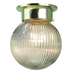 Woodbridge Lighting Basic 1-light Polished Brass Prism Glass Flush Mount (Pack of 12)