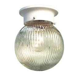Woodbridge Lighting Basic 1-light White Prism Glass Flush Mounts (Pack of 12)