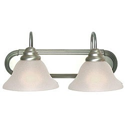 Woodbridge Lighting Basic 2-light Satin Nickel Bath Bar