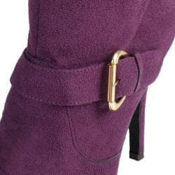 Hailey Jeans Co Women's 'Alpine-52' Buckle Detail Heeled Boots