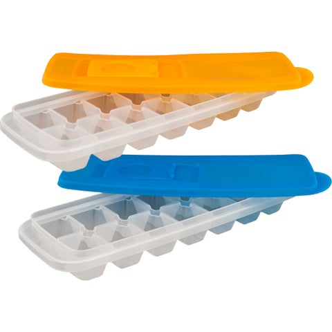 Chef Buddy Ice Cube Trays with Lids (Set of 2)