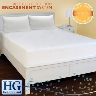 HealthGuard Bed Protector Bed Bug Queen-size Mattress Encasement System - White