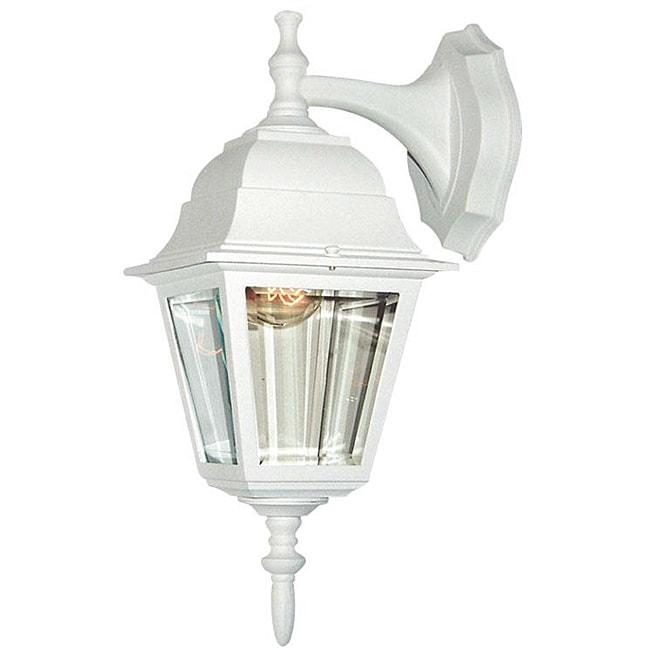 Woodbridge Lighting Basic 1-light Powder Coat White Outdoor Wall Light