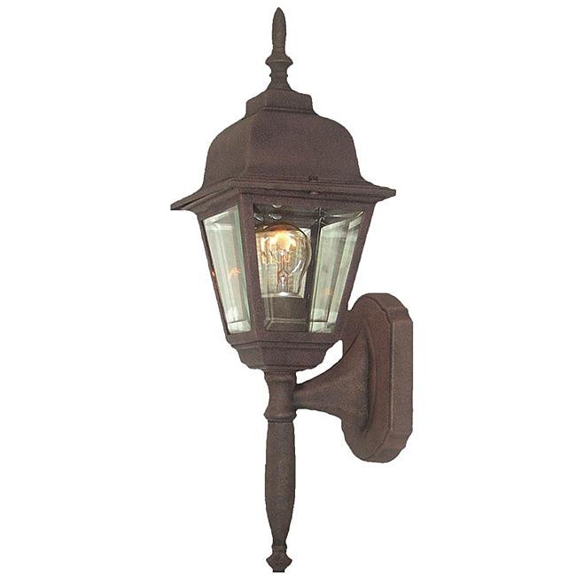 Woodbridge Lighting Basic 1-light Powder Coat Rust Outdoor Wall Light
