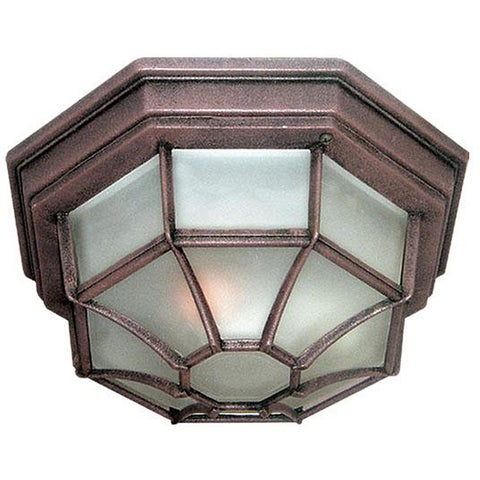 Woodbridge Lighting Basic 1-light Powder Coat Rust Outdoor Flush Mount