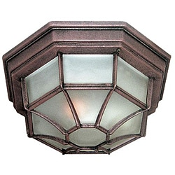 Woodbridge Lighting Basic 1-light Powder Coat Rust Outdoor Flush Mount