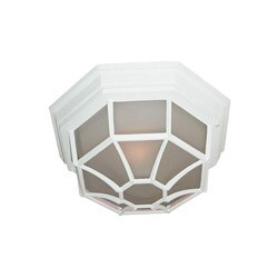 Woodbridge Lighting Basic 1-light Powder Coat White Outdoor Flush Mount
