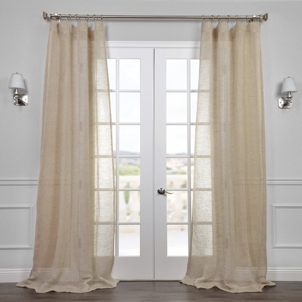 Exclusive Fabrics Open Weave Natural Curtain Panel
