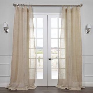 Exclusive Fabrics Linen Open Weave Natural Curtain Panel
