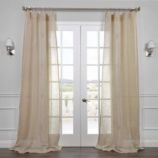 Exclusive Fabrics Open Weave Natural Curtain Panel (4 options available)
