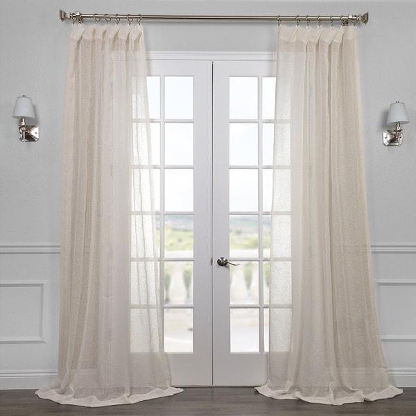 Shop Exclusive Fabrics Linen Open Weave Cream Sheer