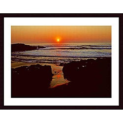 John K. Nakata 'Sunset' Wood Framed Art Print