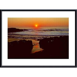 John K. Nakata 'Sunset' Framed Print Art