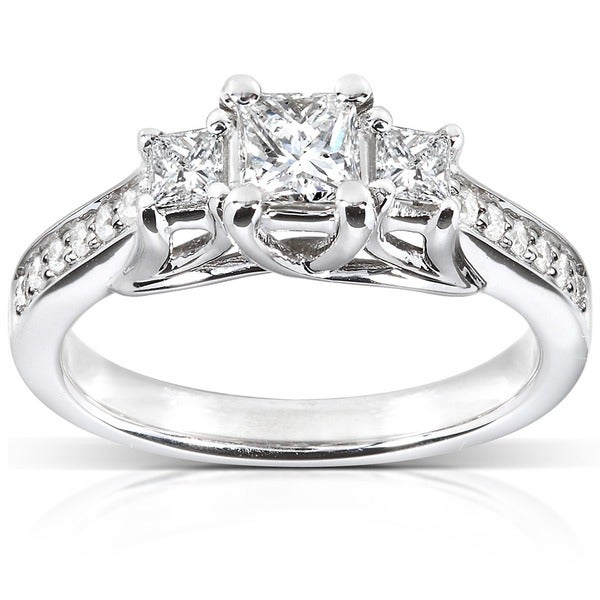 Annello by Kobelli 14k White Gold 5/8ct TDW Diamond Engagement Ring (H-I, I1-I2)